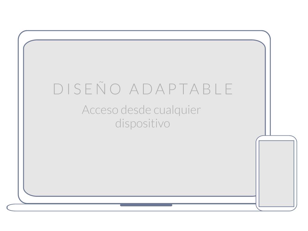 Web responsive: Ahora puede ingresar al portal desde cualquier dispositivo sin ningún inconveniente.