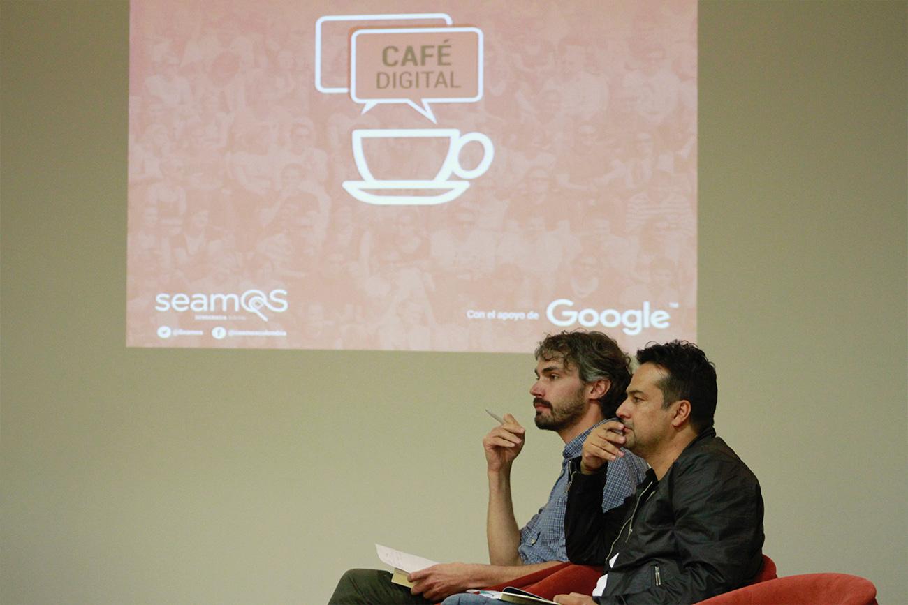 Dos de los invitados fueron Jean- Marie Chenou de la Universidad de los Andes, y Javier Arteaga de Gobierno Abierto Nariño.