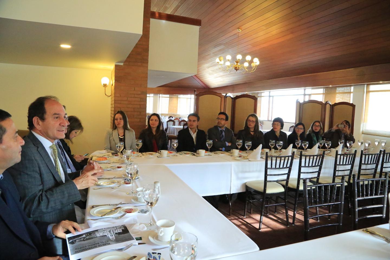 Con el apoyo de la Red Pacto Global Colombia y de su presidente, Mauricio López, la Universidad Externado de Colombia presentó a un grupo de invitados la iniciativa.
