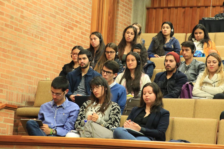 Durante el primer día, asistieron más de 80 estudiantes de la Facultad de Derecho de la Universidad Santo Tomás seccional Tunja.