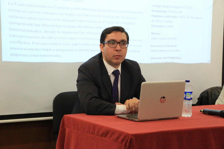 """Charla """"Derecho aplicable y jurisdicción competente en la contratación internacional"""""""