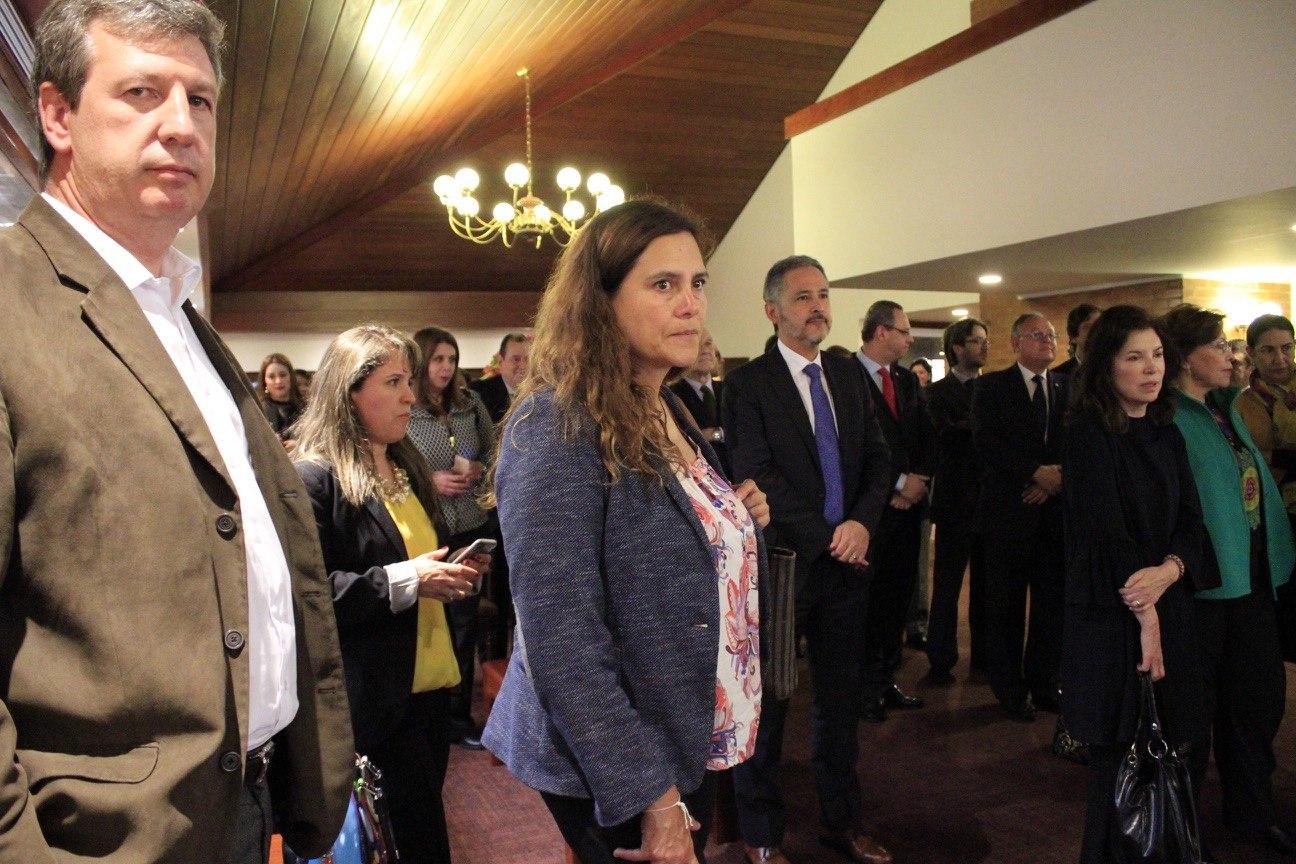 Juan Carlos Henao, Rector del Externado, y Jorge Ramírez, presidente del Consejo de Estado, presentaron la obra alrededor de este tema, fundamental para el Derecho actual.