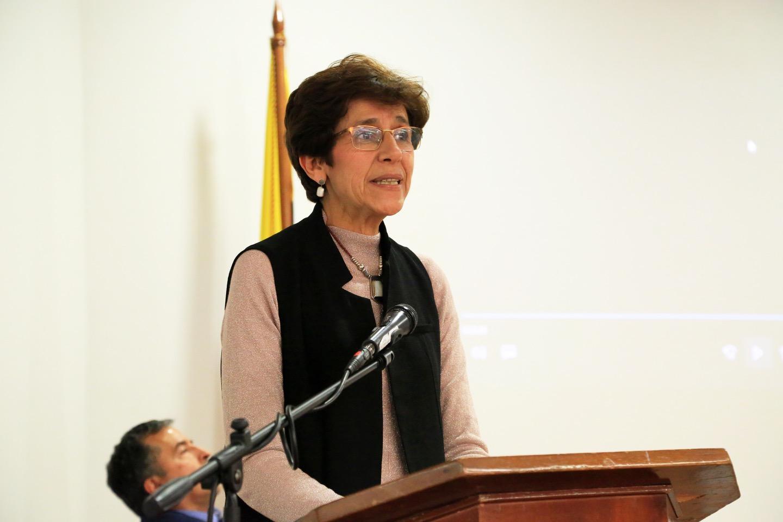 Adriana Perdomo, viuda del profesor Martínez.