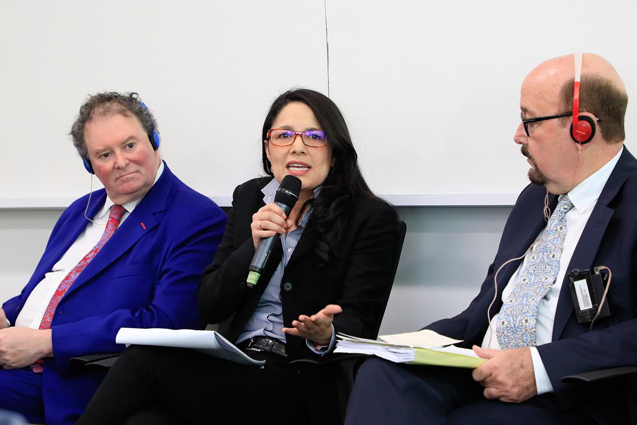 La Maestría en Asuntos Internacionales reunió a varios expertos de los ámbitos nacional e internacional, para hablar de la JEP y las posibilidades de apoyo de misiones internacionales.