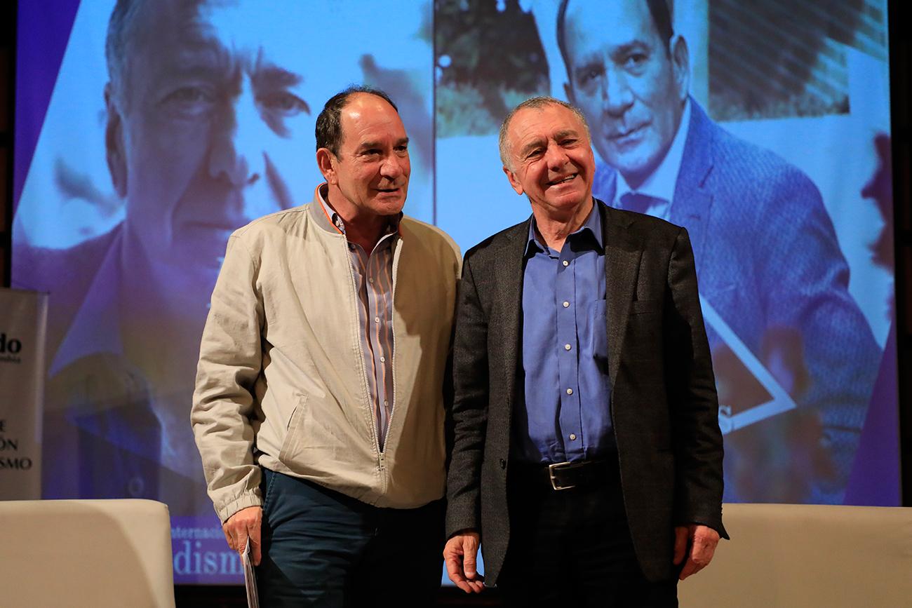 Rector Juan Carlos Henao y Gilles Lipovetsky