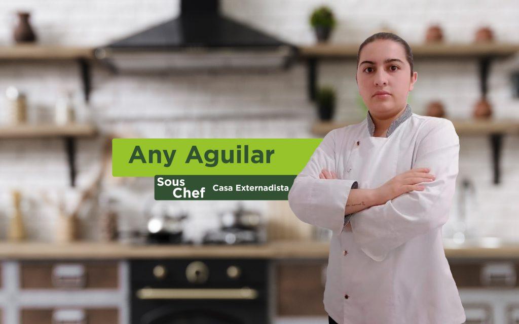 Sous Chef Any Aguilar, clases de cocina en familia.